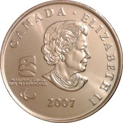 25 Cents - Elizabeth II (Wheelchair Curling) -  obverse