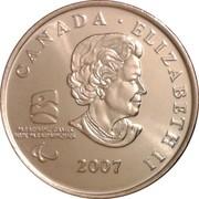 25 Cents - Elizabeth II (Wheelchair Curling) -  obverse