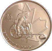 25 Cents - Elizabeth II (Wheelchair Curling) -  reverse