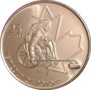 25 Cents - Elizabeth II (Wheelchair Curling) -  reverse