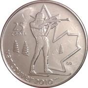 25 Cents - Elizabeth II (Biathlon) – reverse