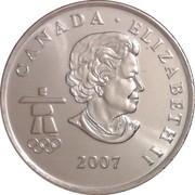 25 Cents - Elizabeth II (Alpine skiing) -  obverse