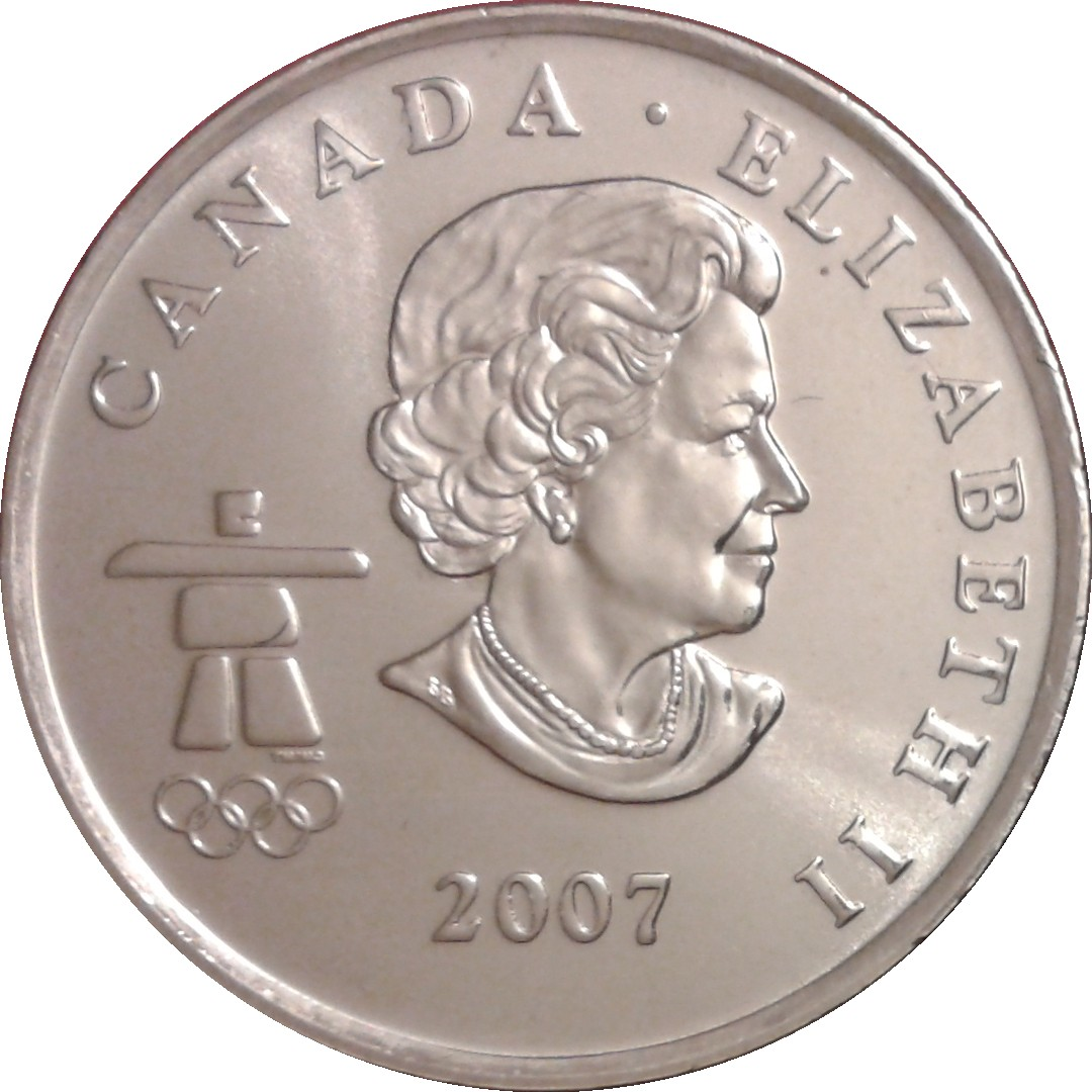 CANADA 2009 CANADIAN OLYMPIC SPEED SKATING KLASSEN COLORIZED 25 CENT COIN UNC