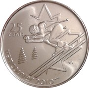 25 Cents - Elizabeth II (Alpine skiing) -  reverse