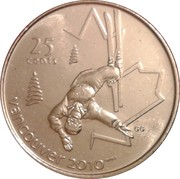 25 Cents - Elizabeth II (Freestyle skiing) -  reverse