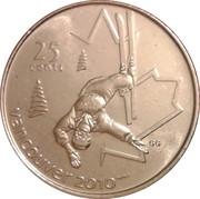 25 Cents - Elizabeth II (Freestyle skiing) – reverse