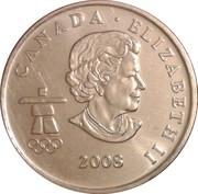 25 Cents - Elizabeth II (Figure skating) – obverse
