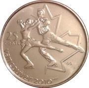 25 Cents - Elizabeth II (Figure skating) – reverse