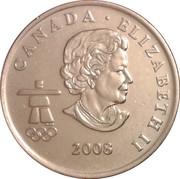25 Cents - Elizabeth II (Snowboarding) -  obverse