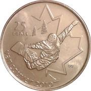 25 Cents - Elizabeth II (Snowboarding) -  reverse