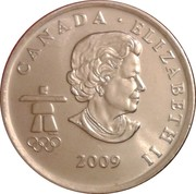 25 Cents - Elizabeth II (Cross Country Skiing) -  obverse