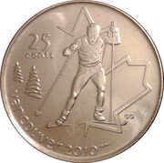 25 Cents - Elizabeth II (Cross Country Skiing) -  reverse