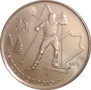 25 Cents - Elizabeth II (Cross Country Skiing) – reverse