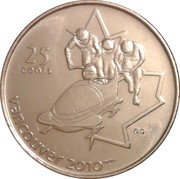 25 Cents - Elizabeth II (Bobsleigh) -  reverse