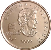 25 Cents - Elizabeth II (Sledge Hockey) -  obverse