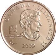 25 Cents - Elizabeth II (Sledge Hockey) -  obverse