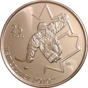 25 Cents - Elizabeth II (Sledge Hockey) -  reverse