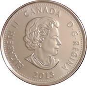 25 Cents - Elizabeth II (War of 1812, de Salaberry) -  obverse