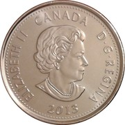 25 Cents - Elizabeth II (War of 1812, de Salaberry; colourized) -  obverse
