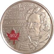 25 Cents - Elizabeth II (War of 1812, de Salaberry; colourized) -  obverse