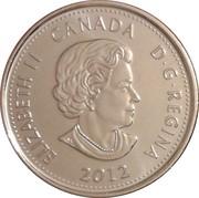 25 Cents - Elizabeth II (War of 1812, Sir Isaac Brock) -  obverse