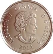 25 Cents - Elizabeth II (War of 1812, Sir Isaac Brock; colourized) -  obverse