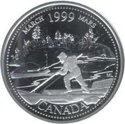 25 Cents - Elizabeth II (March; silver) -  reverse