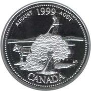 25 Cents - Elizabeth II (August; silver) -  reverse
