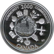 25 Cents - Elizabeth II (Community; silver) -  reverse