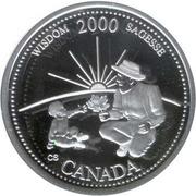 25 Cents - Elizabeth II (Wisdom; silver) -  reverse