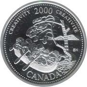 25 Cents - Elizabeth II (Creativity; silver) -  reverse