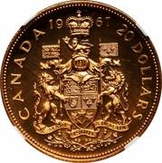 20 Dollars - Elizabeth II (Confederation) -  reverse