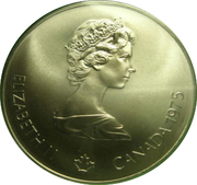 5 Dollars - Elizabeth II (Swimming) -  obverse