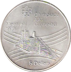 CANADA 1976 OLYMPIC $10 SILVER COIN *No 5**