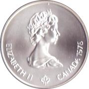 5 Dollars - Elizabeth II (Olympic Flame) -  obverse