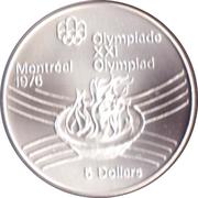 5 Dollars - Elizabeth II (Olympic Flame) -  reverse