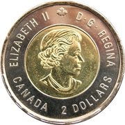 2 Dollars - Elizabeth II (Wait for Me, Daddy) -  obverse