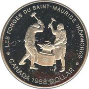 1 Dollar - Elizabeth II (Saint-Maurice Ironworks) -  reverse