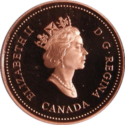 1 Cent - Elizabeth II (Royal Canadian Mint; mirror finish) – obverse