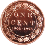 1 Cent - Elizabeth II (Royal Canadian Mint; mirror finish) – reverse