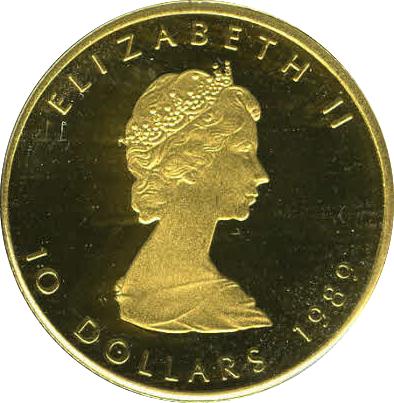 10 Dollars Elizabeth Ii 2nd Portrait 188 Oz Gold Bullion