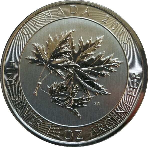 8 Dollars Elizabeth Ii Maple Leaves 1 5 Oz Silver