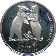 50 Cents - Elizabeth II (Black Bear Cubs) -  reverse