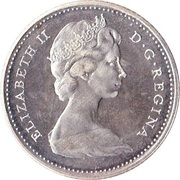 10 Cents - Elizabeth II (2nd portrait, silver) -  obverse