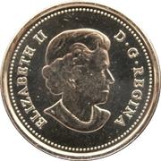 25 Cents - Elizabeth II (Canadian Flag; colourized) -  obverse