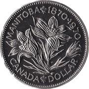 1 Dollar - Elizabeth II (Manitoba) -  reverse