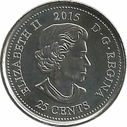 25 Cents - Elizabeth II (Remembrance; coloured) -  obverse