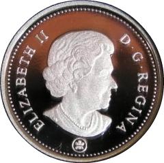 $0.05 2009 Canadian Silver Proof Nickel