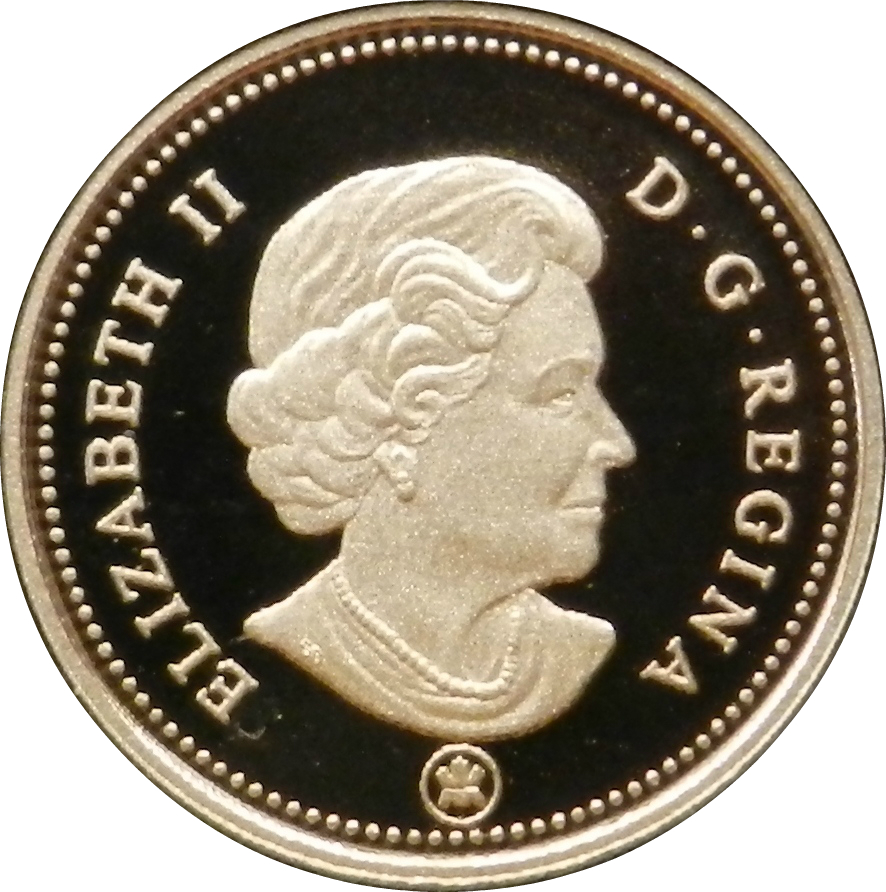 2008 CANADA 5 CENTS PROOF SILVER NICKEL HEAVY CAMEO COIN