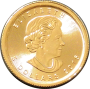 5 Dollars - Elizabeth II (4th Portrait; 1/10 oz. Gold Bullion Coinage) -  obverse